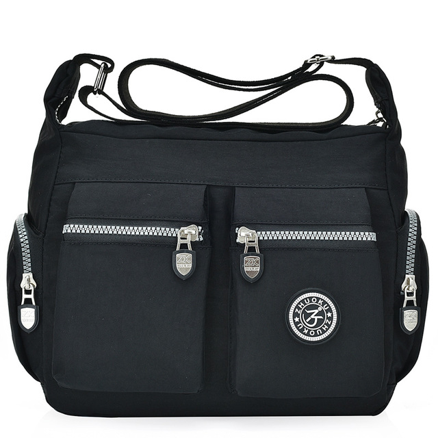 7357df0b8 Impermeable de Nylon, bolsas de mensajero para mujeres, embrague carteras  Vintage vagabundos señoras bolso