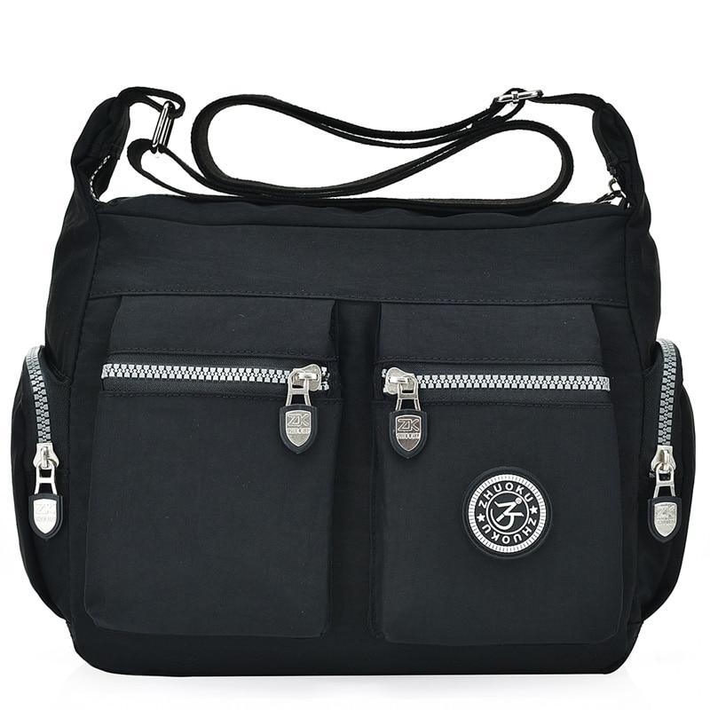 Waterproof Nylon Women Messenger Bags Casual Clutch Carteira Vintage Hobos Ladies Handbag Female Crossbody Bags Shoulder