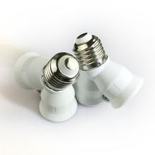 1 шт. огнеупорный E27 до 2 E27 держатель лампы конвертер гнездо преобразования светильник цоколь Тип 2E27 y-образный адаптер для светодиодной лампы