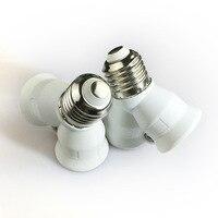 1 pçs à prova de fogo e27 para 2 e27 suporte da lâmpada conversor soquete luz de conversão base tipo 2e27 y adaptador de forma para lâmpada led|e27 to 2 e27|lamp holder converter|2 e27 -