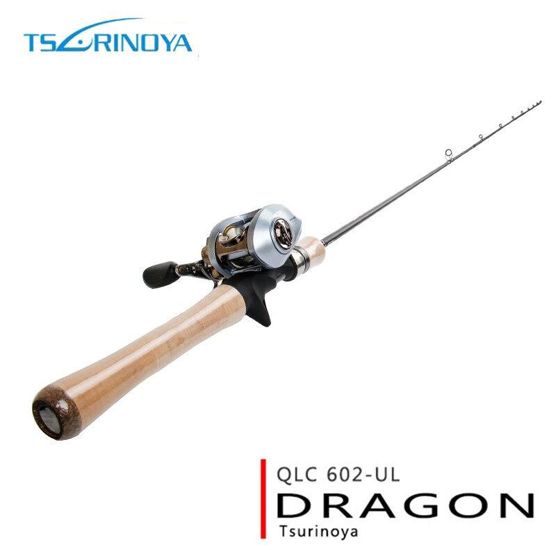 Canne à pêche en carbone TSURINOYA 1.8 m poids de leurre de haute qualité 1-8g UL canne à pêche en eau salée Action rapide