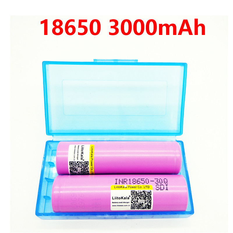 2PCS 100% LiitoKala 30Q brand for samsung 18650 3000mAh lithium battery inr18650 powered rechargeable battery