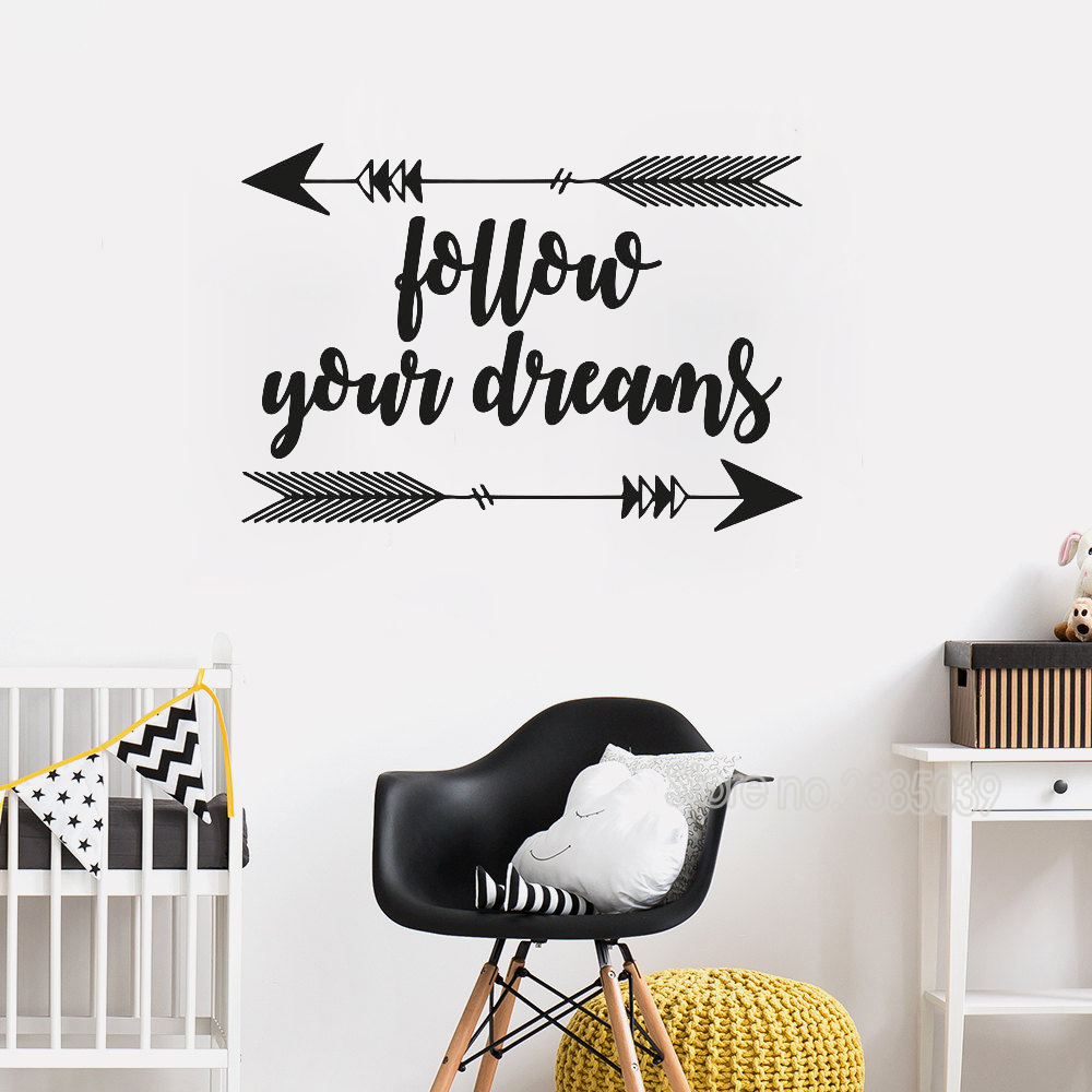 Follow your Dreams Wall Decal - Black : Target