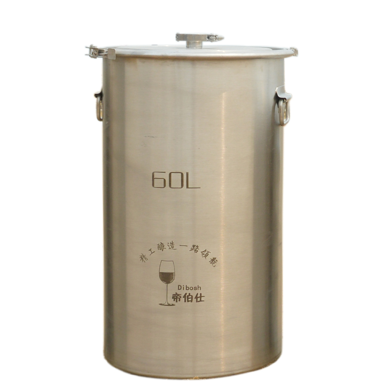 60L 304 Stainless Steel Bucket Home Brewing Fermentation Tank For Wine Beer Fermenter With Anchor Ear