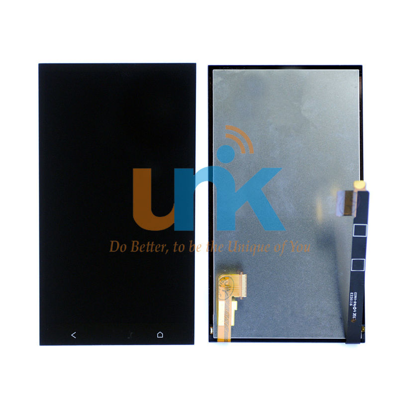 Original LCD For HTC One M7 LCD Display With Touch Screen Digitizer Assembly For HTC M7 Dual/Single SIM LCD Replacement Parts  10pcs lot lcd assembly for htc one m7 lcd display touch screen digitizer with frame bezel replacement new original quality