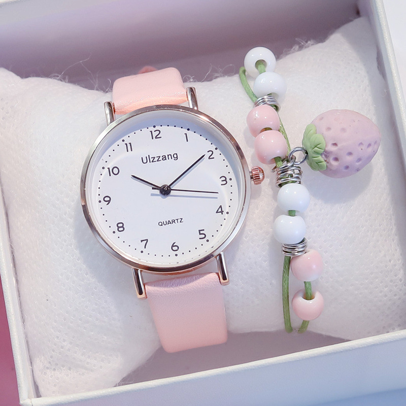 Fashion Women Watches Ulzzang Brand Simple Casual Quartz Leather Dress Ladies Watch Waterproof Gift