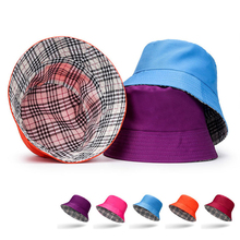 2019 New Summer Double Sided Bucket Hat Men Women Unisex Sunbonnet Fed