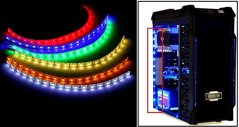 0.5m / 1m / 2m / 3m SMD 5050 Flexible LED Strip Light 12V DC 60leds/m ip20 / ip65 Waterproof PC Computer Case Adhesive Tape Lamp