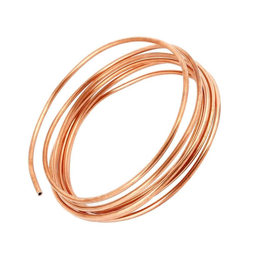 5/16 pouce diamètre 5m bobine souple cuivre laiton Tube tuyau climatiseur tuyau de cuivre réfrigérant gaz Tube bricolage refroidissement - 3
