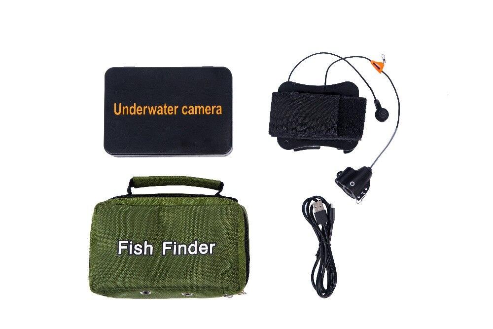 """WF15 15 м рыболокатор подводная камера для подледной рыбалки """" ЖК-монитор камера для рыбалки с температурой, направлением, глубиной дисплея"""