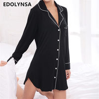 New Arrivals Modal Nightgowns Soft Home Dress Sexy Nightwear Women Sleepwear Solid Sleep Lounge Vintage Nightgown