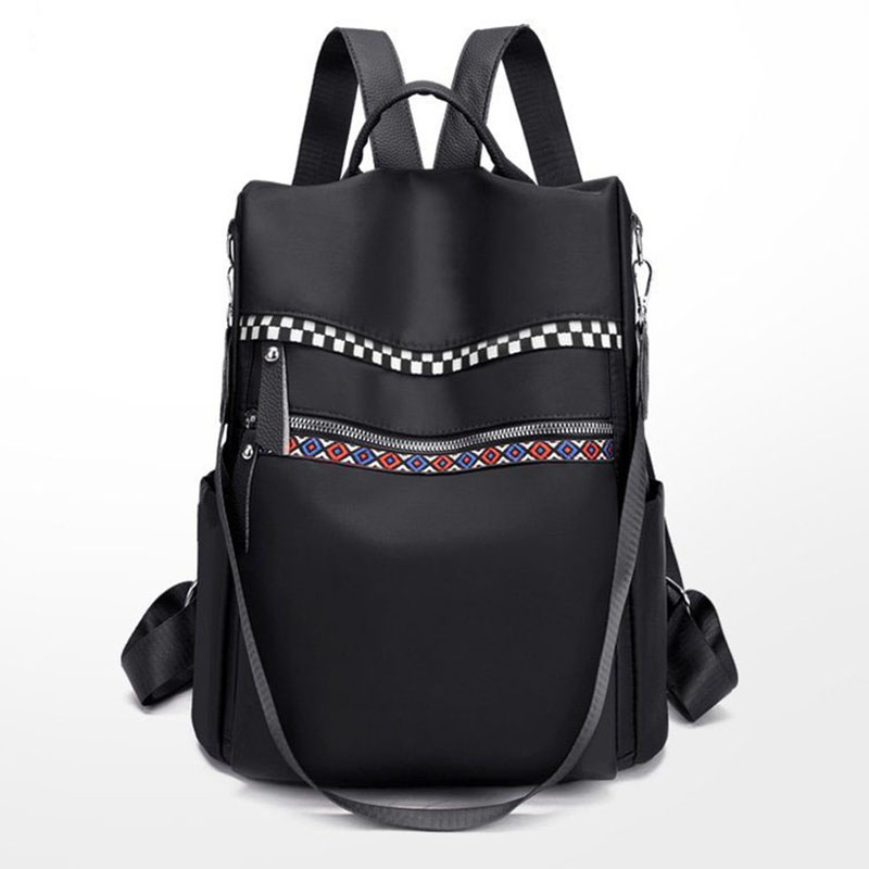 Femmes Anti-vol sac à dos sauvage tempérament Simple Oxford tissu mode rubans sacs d'école pour les adolescentes Bookbag