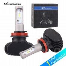 MALUOKASA 2PCs S1 H11 H4 H7 LED Car Headlight 8000LM 9005 9006 50W 6000K White Auto LED Light Bulb DRL Lamps for Car Styling