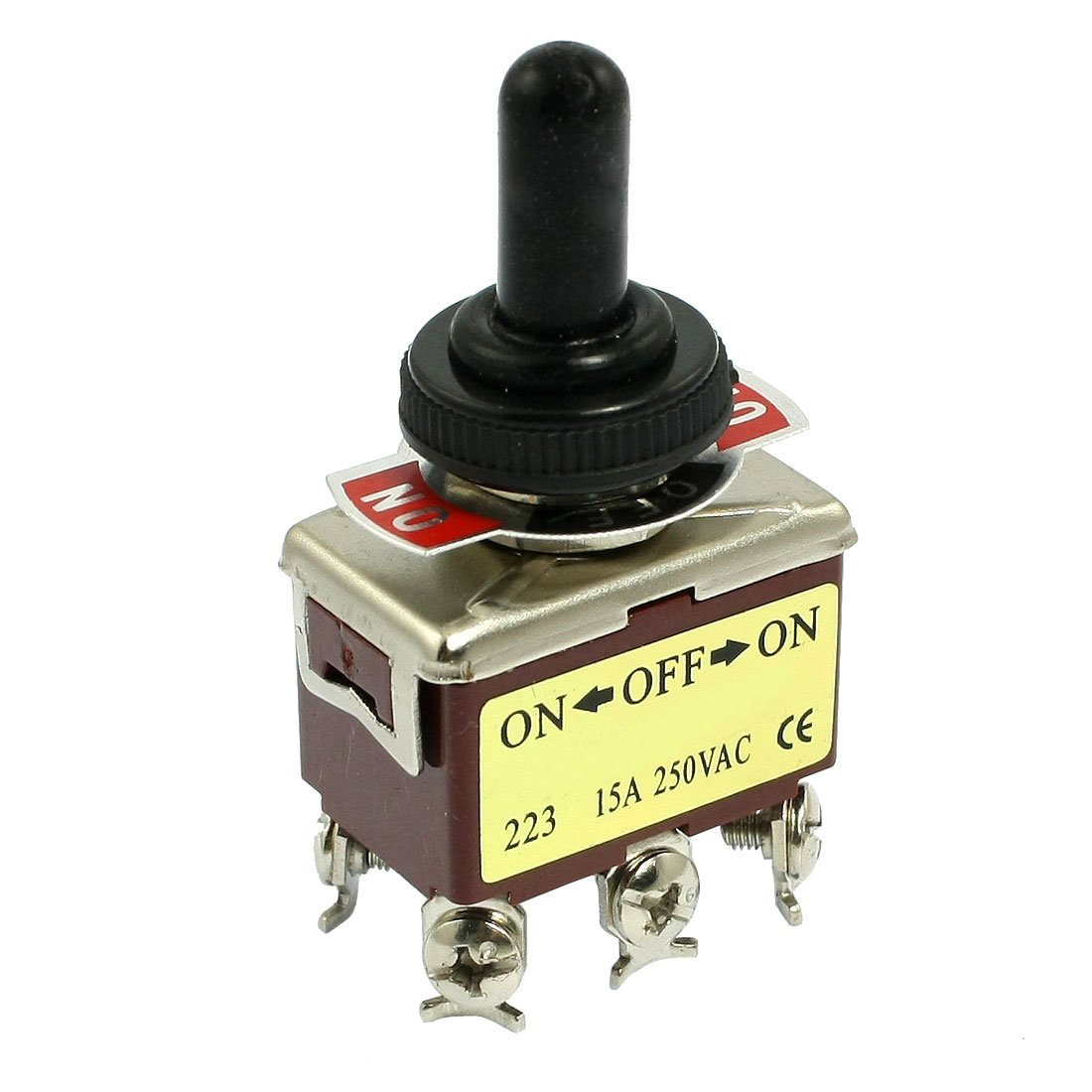 HWEXPRESS AC 250V 15A 6 Pin DPDT On/Off/On 3 Position Mini Toggle Switch kn3d 103 ac 12v 25a 3 pins on off on 3 ways 1p2t spdt toggle switch replacement