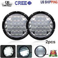 CO LIGHT 7 Inch Round LED Headlights 70W 35W 5D Combo DRL For Jeep Wrangler Hummer