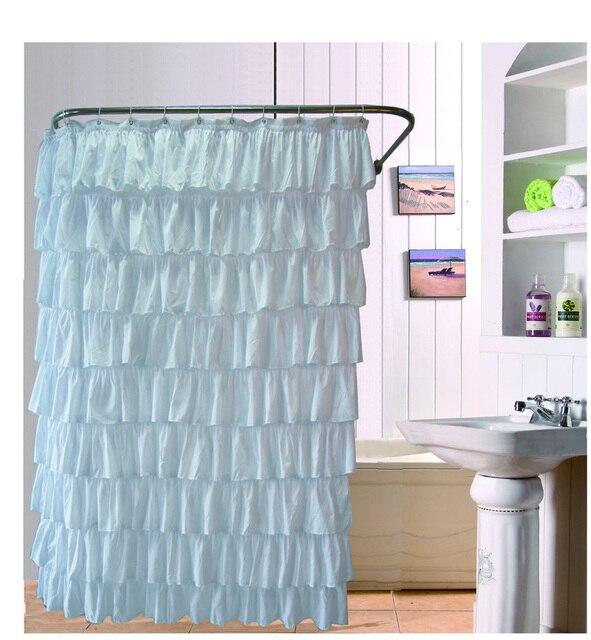 Bad Vorhang rüschen duschvorhang polyester bad bad vorhang bildschirm in rüschen