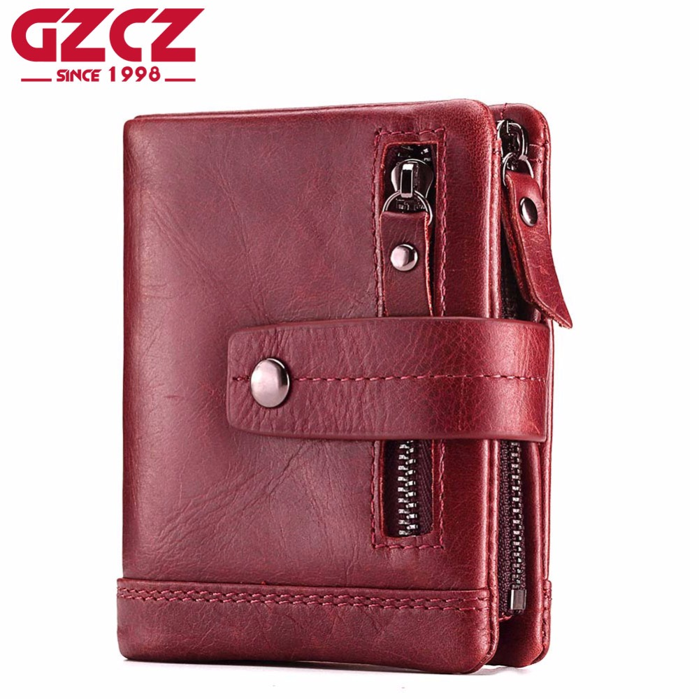 GZCZ Fashion Genuine Leather Women Wallet Female Lady Mini Zipper Coin Purse and Small Walet Portomonee Money Bag Vallet Perse kavis 2017 fashion genuine leather women wallet female walet lady magic vallet money bag clutch handy for girls rfid coin purse
