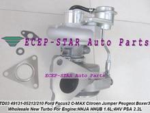 TD03L3 49131-05212 49131 05212 Turbo For Ford For Focus II C-MAX Fiesta HHJA HHUB 1.6L Jumper For Peugeot Boxer III 4HV PSA 2.2L
