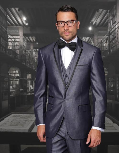 2018 New Arrival Navy Blue men wedding suits Cheap Jacket+Pants+ ...