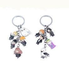 Movie Hogwarts owl Keychain Magic Trendy  keyring For women man accessories H P fan Cosplay Jewelry