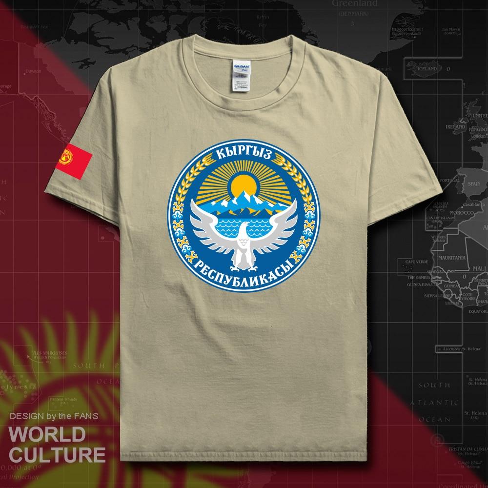 Kyrgyzstan Kyrgyz T Shirt Fashion 2018 Jersey Nation Team 100% Cotton T-shirt Clothing Tees Country Sporting Gyms KG KGZ Flag 20