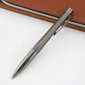 Черная Золотая модная металлическая шариковая ручка с зажимом, шариковая ручка с чернилами 0,7 мм, студенческие принадлежности, деловая ручка, подарочная ручка