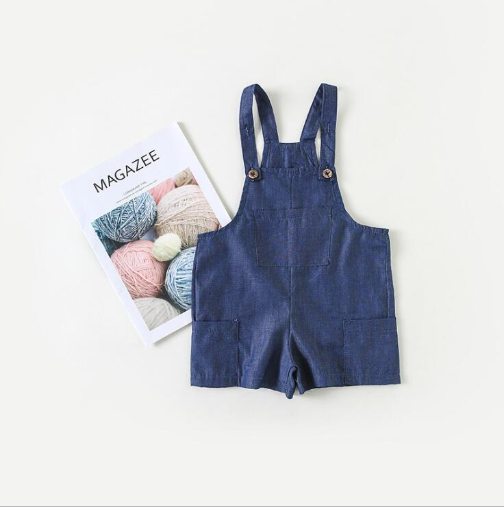 2019 New Fashion Toldder Girls Overalls  Spring  Girls Shorts  0-4t  PF172