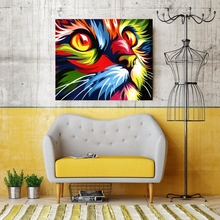 Paint By Numbers DIY Cat Abstract Canvas Number Painting Coloring by Animal Artwork Home Decor Yourself Gift