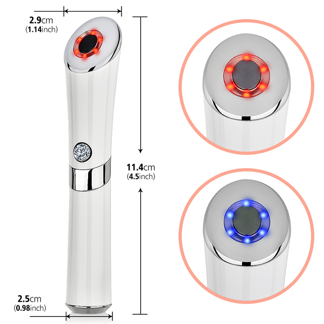 Electric Vibration Anion Eye Massager Blue & Red Light Laser Pen Anti Puffiness Anti Aging Wrinkle Eye Patch Eyes Skin Care Tool 4