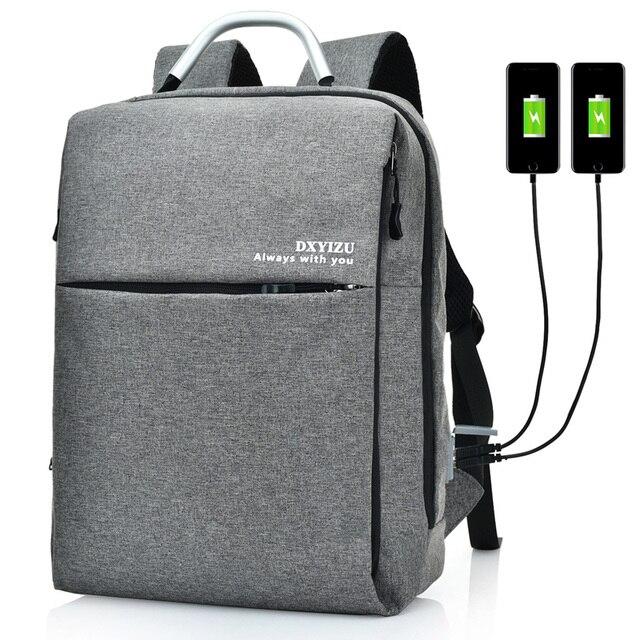Moda USB Carga Anti Roubo Mochila Homens 15 polegada Sacos Bagpack Mochilas Laptop Mochila De Viagem Da Moda mochila saco um dos