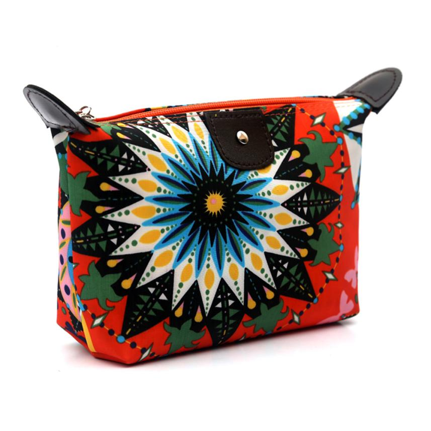 New Designed Fashion Women Travel Make Up Cosmetic Pouch Bag Clutch Handbag Casual Purse Very popular Cosmetic Bag