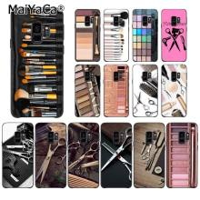 MaiYaCa Naked Palette Glam Makeup tools hair style Phone Case for Samsung Galaxy S9 plus S7 edge S6 S10Plus S10lite S10E S8 plus(China)