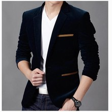 NEW Mens Fashion Brand Blazer British's Style casual Slim Fi