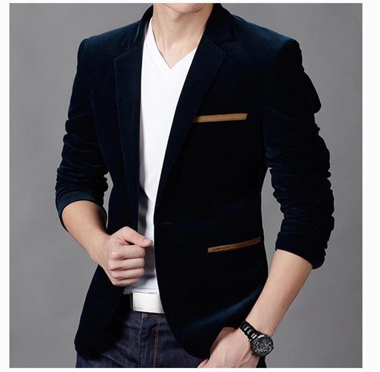 NOVA Marca de Moda Mens Blazer Britânico's Estilo casual Slim Fit Blazers homens casaco paletó masculino Terno Masculino Plus Size tamanho 3XL