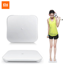 Xiaomi Original Mi Smart Weighing Scale Support Android 4.4 iOS 7.0 Above Bluetooth 4.0 Losing Weight Digital Scale smart Home original xiaomi scale mi smart body weight digital scale support android ios bluetooth 4 0 above smartphone remote control