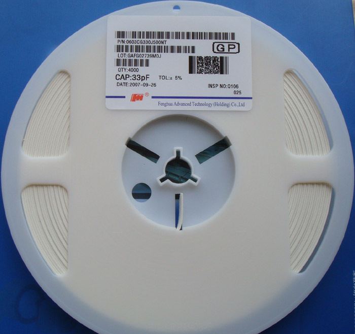 Free Delivery. Patch capacitance 0603 33 pf 33 pf 50 v a plate of 4000 only 5%