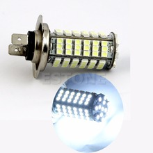 цена на NEW H7 102-SMD LED 3528 Car Auto Head Light Pure White Bulb Lamp 6000k DC 12V