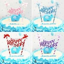 1 шт./компл. бантом Топпер для торта «С Днем Рождения» для вечерние украшения торта флаг для детского дня рождения торт украшения инструменты