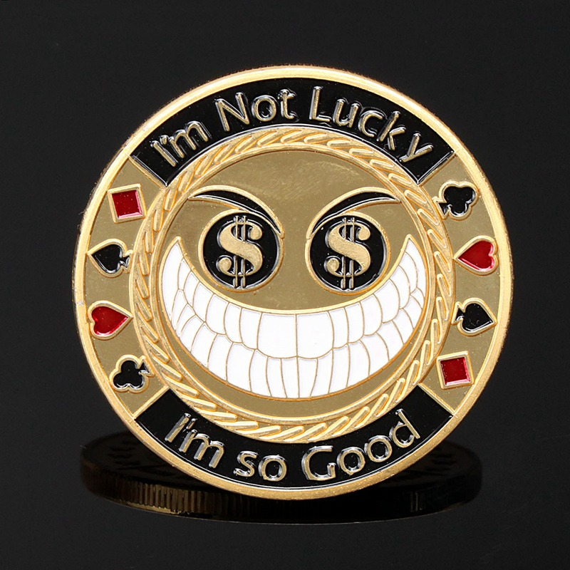 metal-font-b-poker-b-font-card-guard-protector-i'm-not-luck-i-am-so-good-gold-plated-with-round-plastic-box-metal-craft-font-b-poker-b-font-chips-font-b-poker-b-font-game