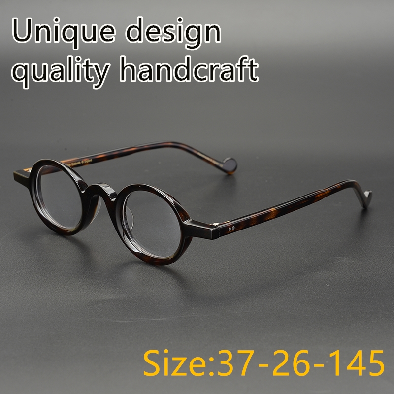 Vintage Acetate eyeglasses frame character style Unique design classical round square Small eyewear women men original
