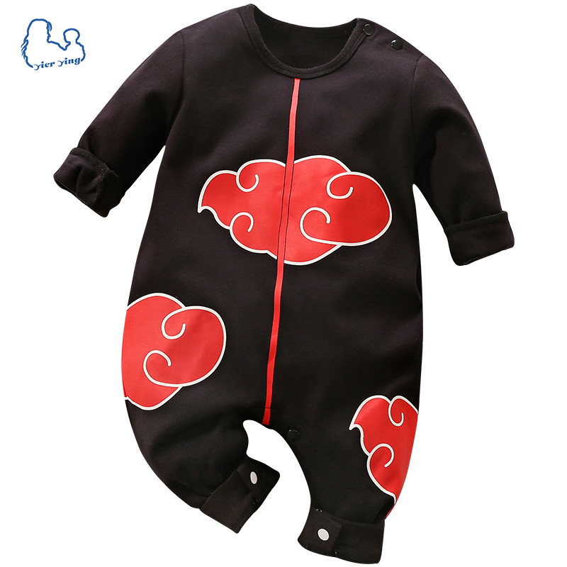2019 Brand New Baby   Rompers   100% Cotton Cartoon Naruto Style Long Sleeve Baby Jumpsuits Baby Boy Girl Clothes
