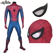 Ling Bultez High Quality 2017 Homecoming Spiderman Costume Muscle Shade Newest 3D Print Tom Holland Spider Man Suit Adult