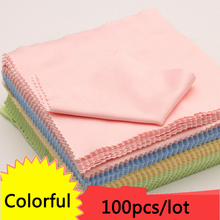 100psc/lot 13cmX13cm Glass Cleaning Cloth Polishing for Jewellery Sterling Silver Gold DIY Tools Jewelry Accessories Clean