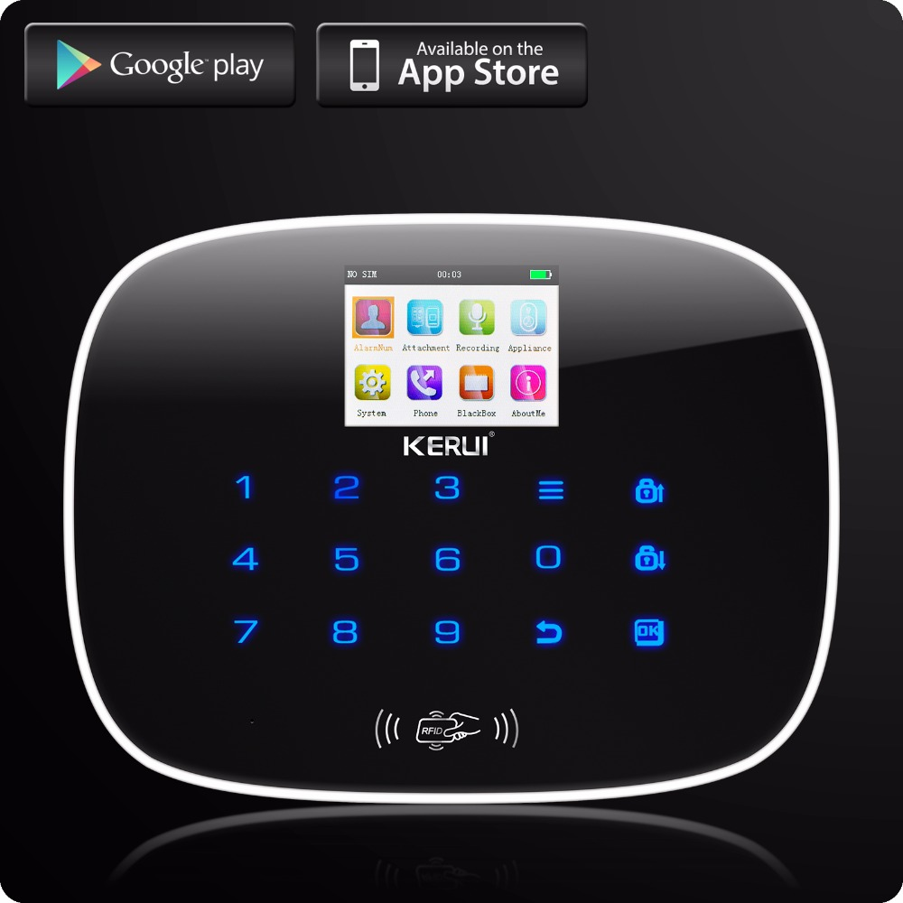 Newest 3G WIFI PSTN GSM W193 Home Burglar LCD GSM SMS Touch Screen Alarm Panel Home Security Alarm System Solar Wireless Siren 1