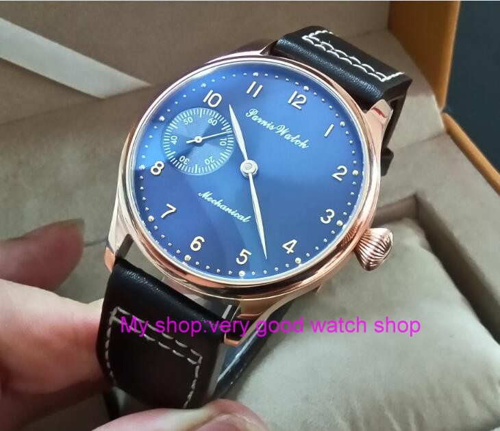 Здесь продается  44mm PARNIS blue dial 17 jewels Asian 6497/3600 Mechanical Hand Wind movement men