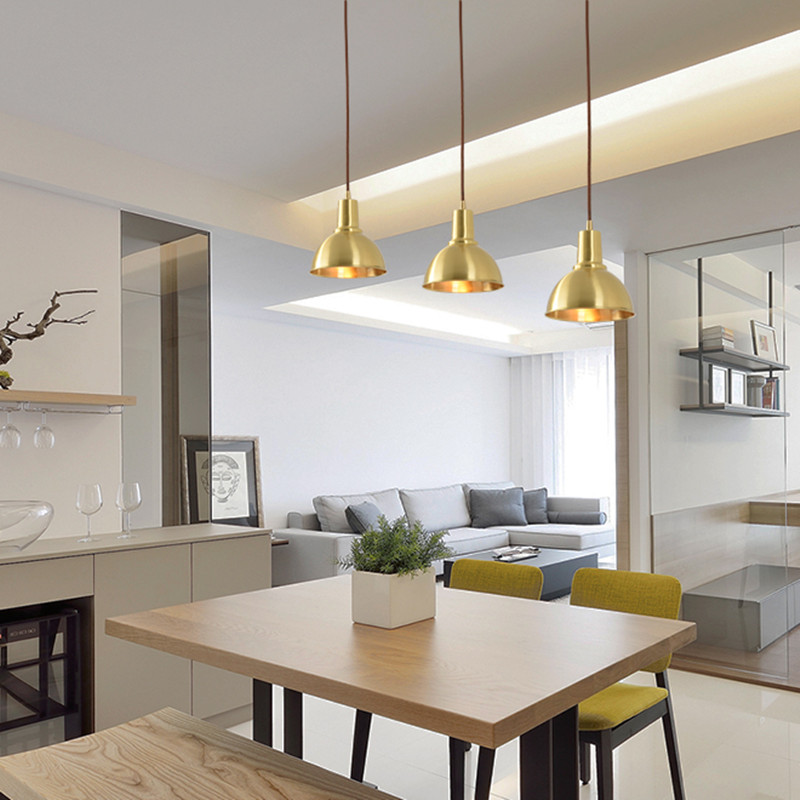 Brass LED Pendant Light Nordic Industrial Lamp Loft Vintage Indoor Retro Minimalist Modern Creative Kitchen Home Lighting Decor flysky fs i6 6ch 2 4g afhds 2a lcd transmitter ia6 receiver mode 2 1 radio system for rc heli glider quadcopter f14914 5
