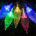 Fairy 3M 20 LED lamps 3*AA Battery-Operated Navidad Xmas LED String Transparent Leaf Light Wedding Decoration