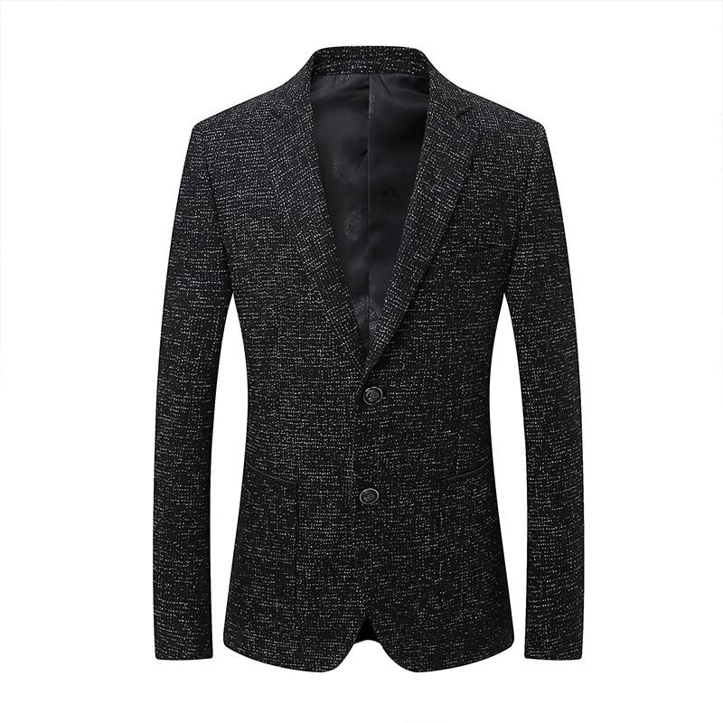 Spring Autumn Retro Men Wool Coats Double Button Jackets Long Turn Collar Male Slim Clothing Black