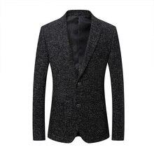 2018 spring new style men's fashion casual blazers men coats jacket classics business woolen blazer mens suit