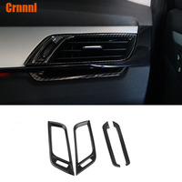 Carbon fiber style About air conditioning outlet decoration cover Car Accessories For BMW F48 X1 20i 25i 25l 2016 2017 2018